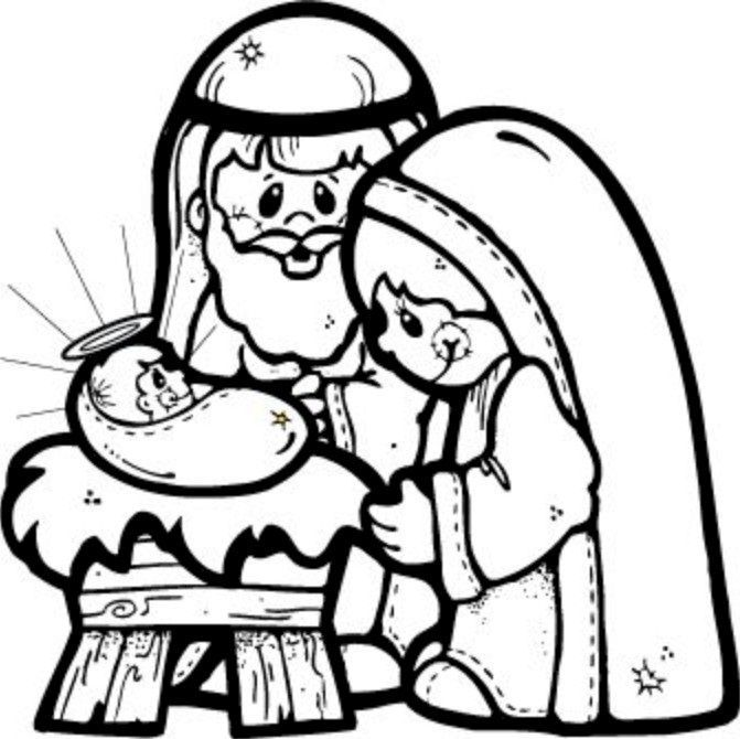 free printable nativity scene coloring pages - Christmas Nativity Coloring Pages