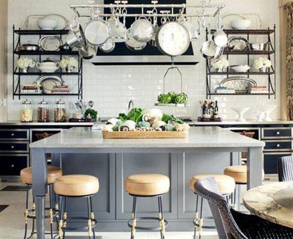 îlot central cuisine ikea et autres- l'espace de cuisson - simple-ilot-central-vintage-cuisine-style
