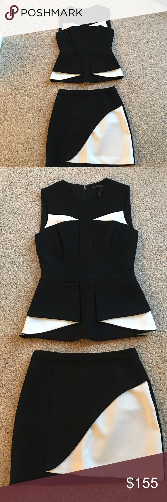 Two pieces dresses suits Black and white tops and A line skirt, top size: xs, skirt size: xxs. Sale whole set. BCBGMaxAzria Other