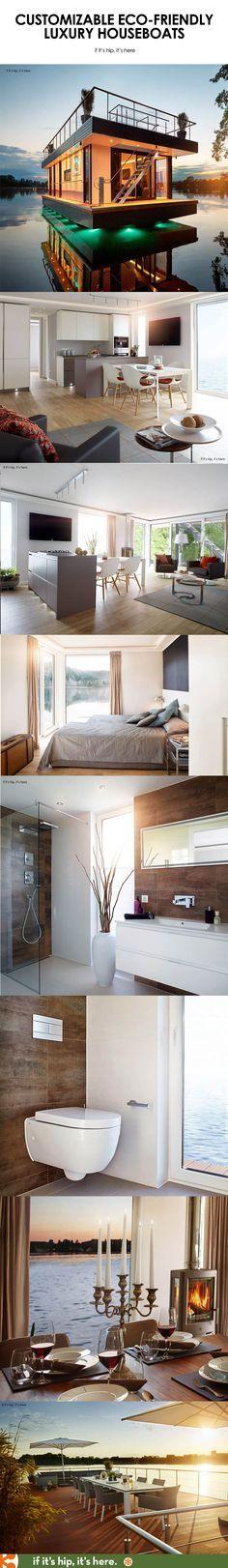Eco Friendly High End Living That Floats: Rev House Houseboats.   See ·  Floating HomesPontoon BoatsHouseboatsEco ...