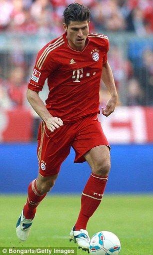 Bayern Munich striker Mario Gomez