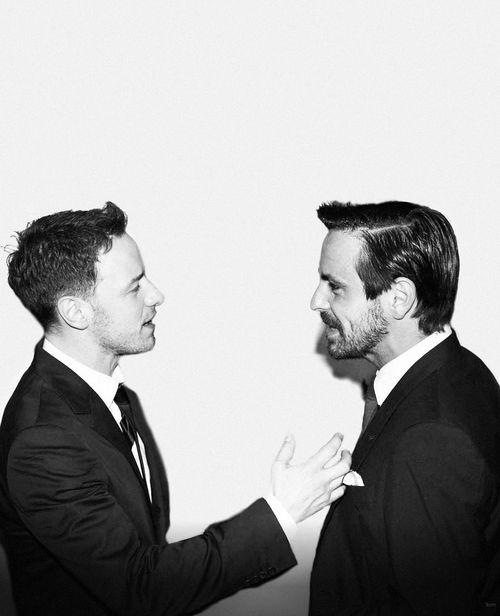 Be still my ovaries...  James McAvoy & Emun Elliott.