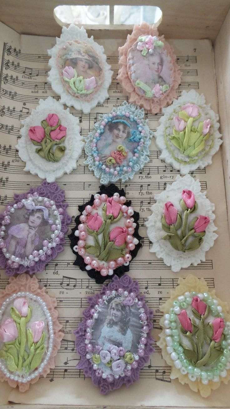 Sweet ideas for making brooches.