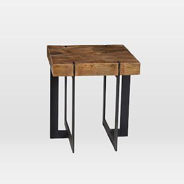 block side table westelm modern living room - Side Tables For Living Room