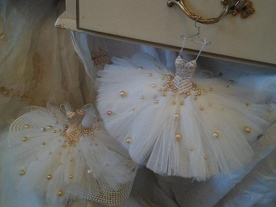 mini ballerina paper dresses | Assemblage Art miniature ballet dress by MesssieJessie on Etsy