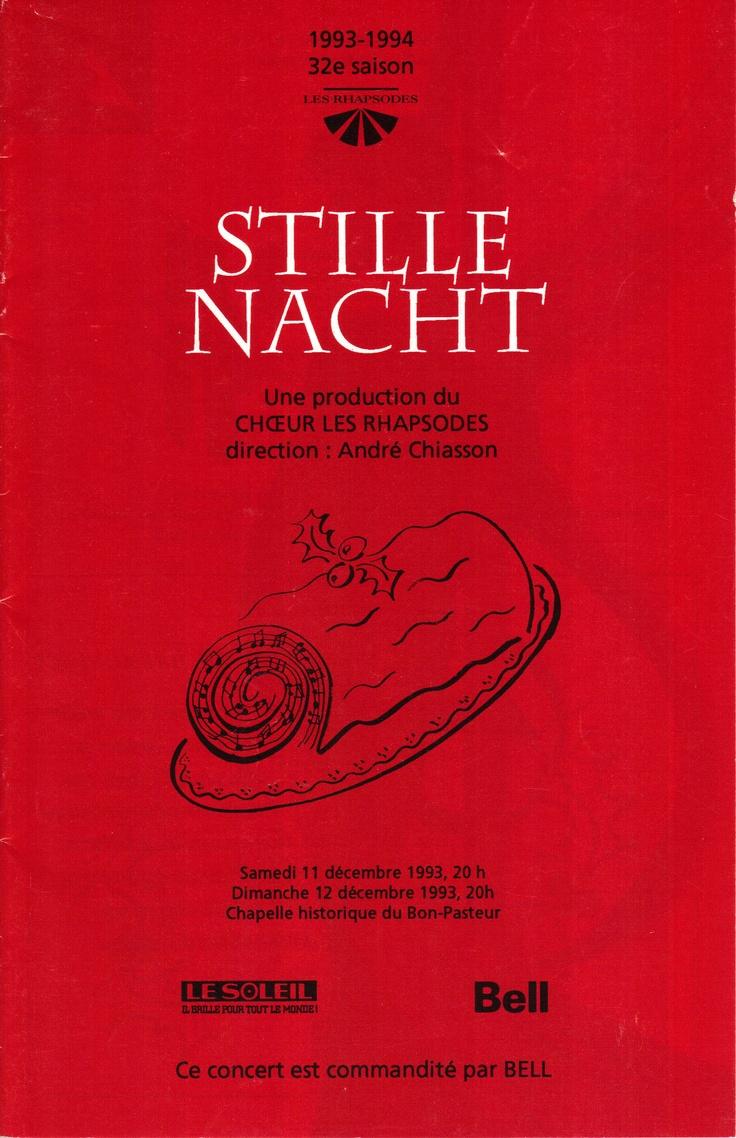 Décembre 1993  Stille Nacht  Les Rhapsodes