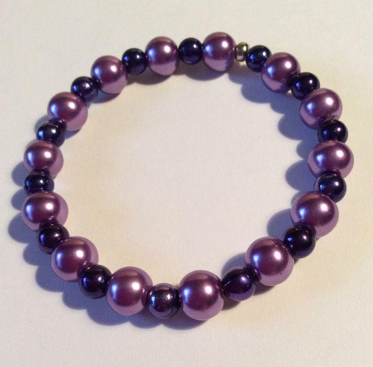 Purple+and+Lavendar+Beaded+Elastic+Stretch+Fashion+Accessory+Bracelet+by+AliceAndBettyDesigns+on+Etsy