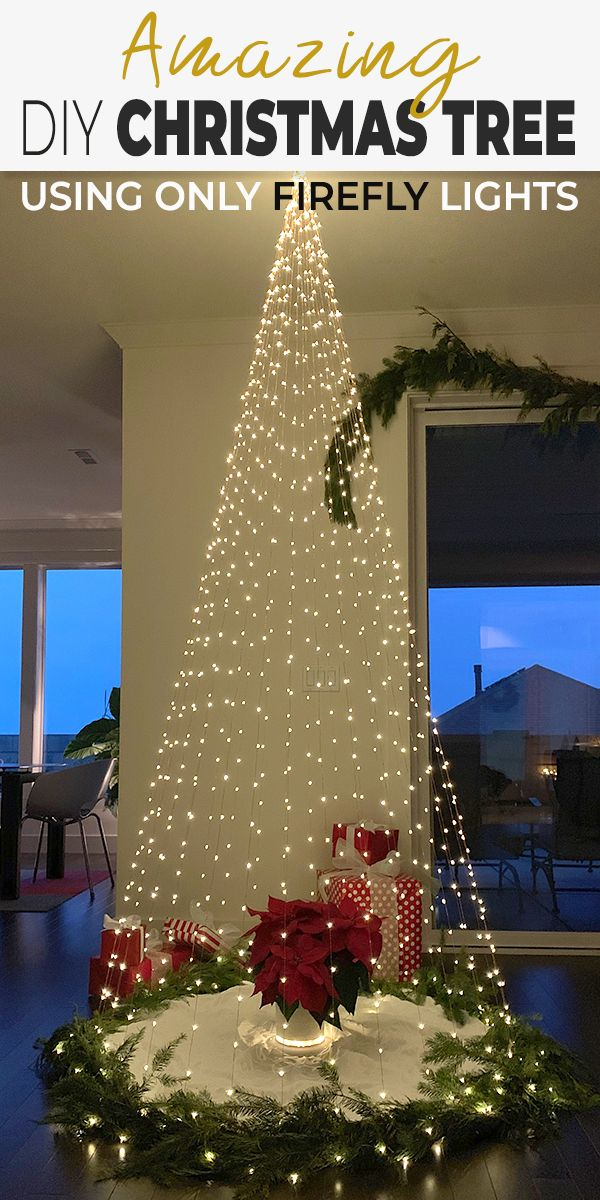Diy Christmas Tree Made Using Only Firefly Lights Ohmeohmy Blog Christmas Tree Decorations Diy Diy Christmas Tree Easy Christmas Diy