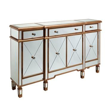 Erte Mirrored Console - Huffman Koos Furniture