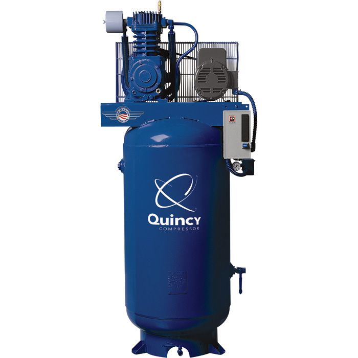 Quincy reciprocating air compressors are designed to be a compressor for life. They are built for efficiency and lower operating costs, producing more compressed air at a lower horsepower. USA Made!