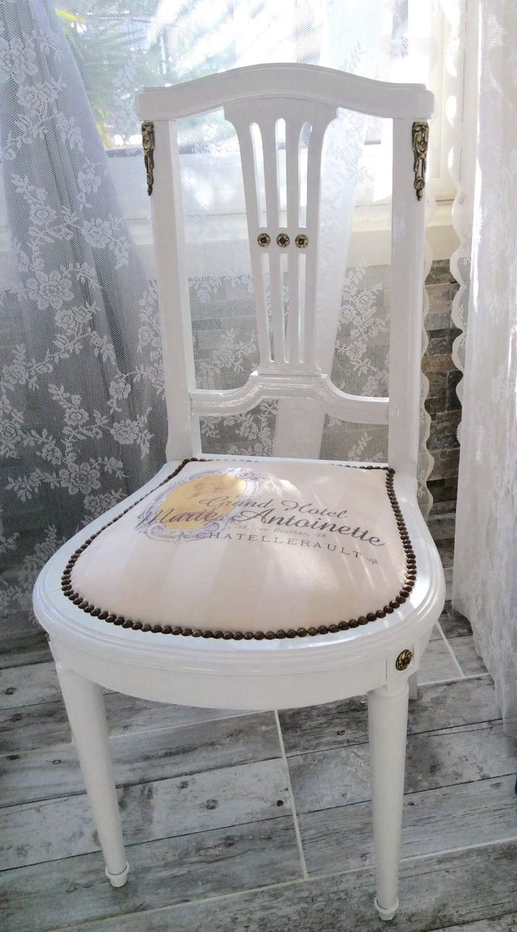 "Chaise Ancienne ""Grand Hôtel Marie-Antoinette"" Blanc Beige"