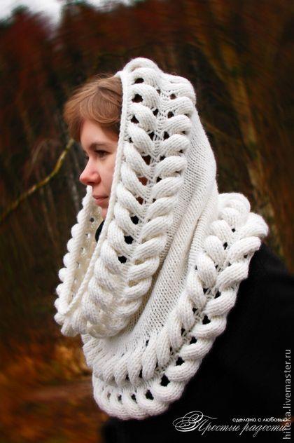 "Снуд ""Владычица Лориэна"" - снуд,снуд вязаный,шарф,шарф женский,шарф-труба"