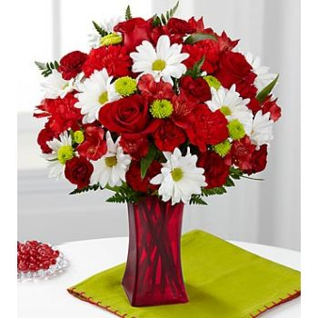 #bowmanvilleflowers #valentinesday #giftideas #love #sparklingcider #sparklerose #red #rose #teddy #bear #chocolatecoveredstrawberries  The FTD® Cherry Sweet Bouquet | Bowmanville, Courtice, Newcastle, Oshawa, Whitby Flower Delivery