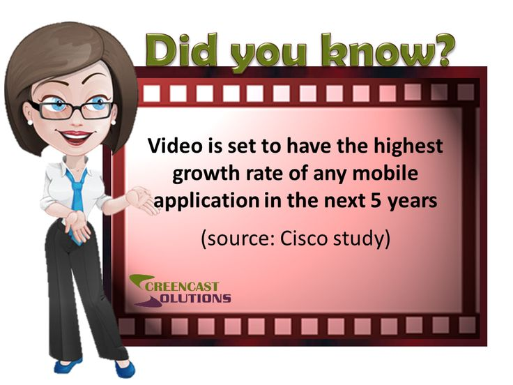 Video is set to have the highest growth rate of any mobile application in the next 5 years (Cisco study)