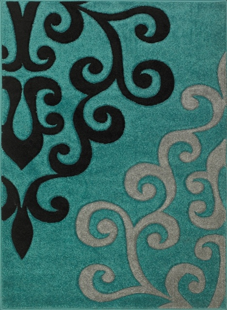 Teal And Grey Rug Home Decor