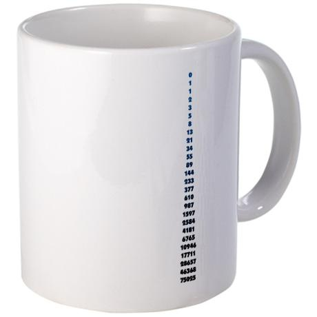 The Fibonacci Code Mug