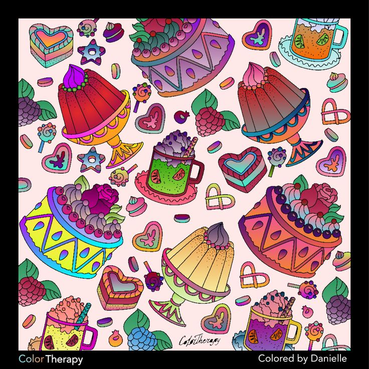 I Colored This Myself Using Color Therapy App It Was So Fun And Relaxing