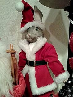 One of my favorites I love Rabbits.  Another thrift store treasure! And he was a bargain!: