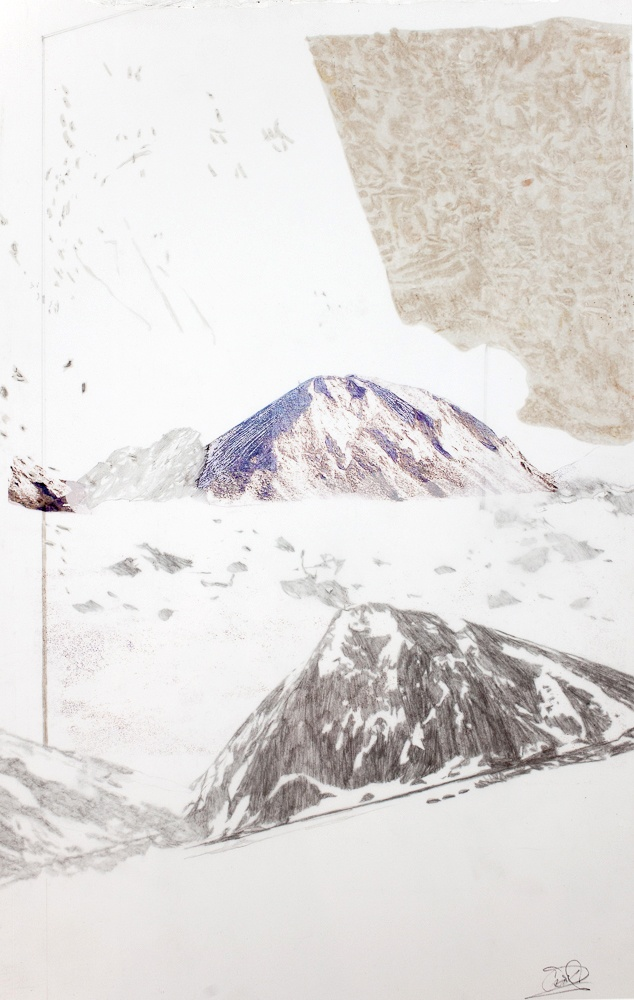 Haldes Urbaines 2  Impression numérique et graphite sur deux feuilles de papier Mylar.  32 cm x 20 cm  #art#drawing