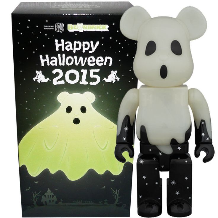 Medicom Be@rbrick Bearbrick Halloween 2015 (Black & Silver) 400% Figure #Medicom
