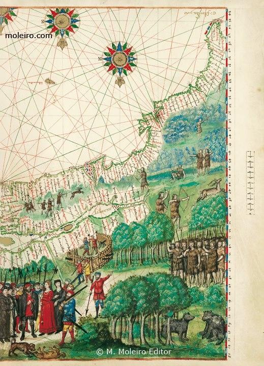 """Rare Books. CANADA 1547. Jacques Cartier. """"Detalla el golfo y río de San Lorenzo y parte de los territorios adyacentes, descubiertos, explorados y bautizados con el nombre de Canadá por Cartier en su búsqueda del huidizo paso del Noroeste."""""""