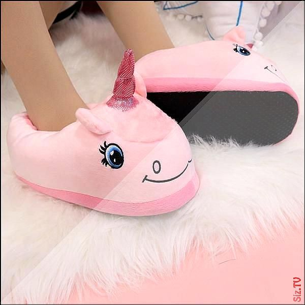 Warm Cotton Winter Women Home Slippers Soft Cartoon Unicorn Indoor Non Slip House Slippers Girls Cute Shoes F Slippers For Girls Cute Slippers Unicorn Slippers