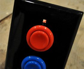 Arcade Light Switch    Power up your lights arcade style with the Arcade Light Switch! This one of a kind product is perfect for any gamer and would look striking on the wall of any room.