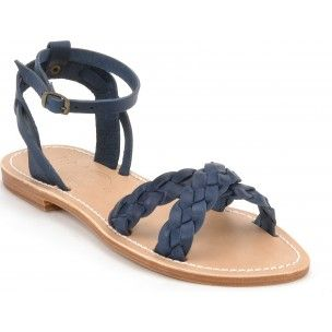 Navy Criss Cross Sandals La Botte Gardiane