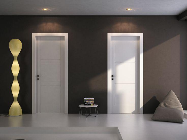 FBP porte | Collezione OLIVIA - Art. 23 e Art.27 - Colore:laccata bianca #fbp #porte #legno #door #wood #interiordoors #varnished #woodcut