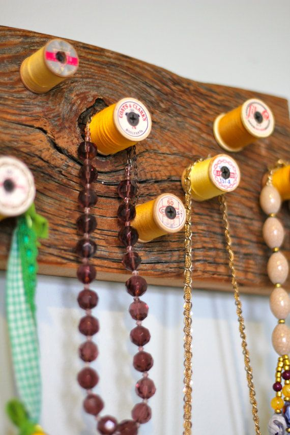 Yellow ombre wooden thread spool Rack by bluebirdheaven on Etsy
