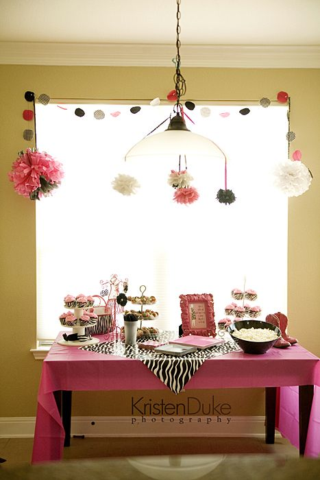 Zebra & Pink Baby Shower ideas