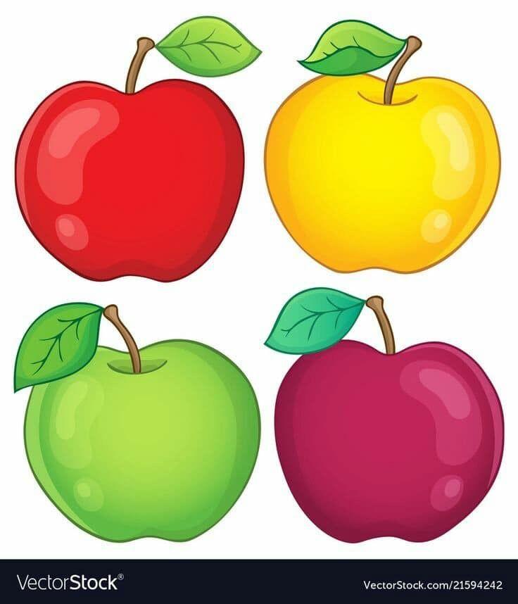 بطاقات رووووعة لتمييز الالوان مفيدة لزيادة التركيز والتواصل البصري عندما يتراوح عمر الطفل مابين 2 3 سنوات يكون قد اصبح مستعد لتعلم الالوان ولكن ليس بالضرورة In 2021 Apple Preschool Clip Art Vector Free