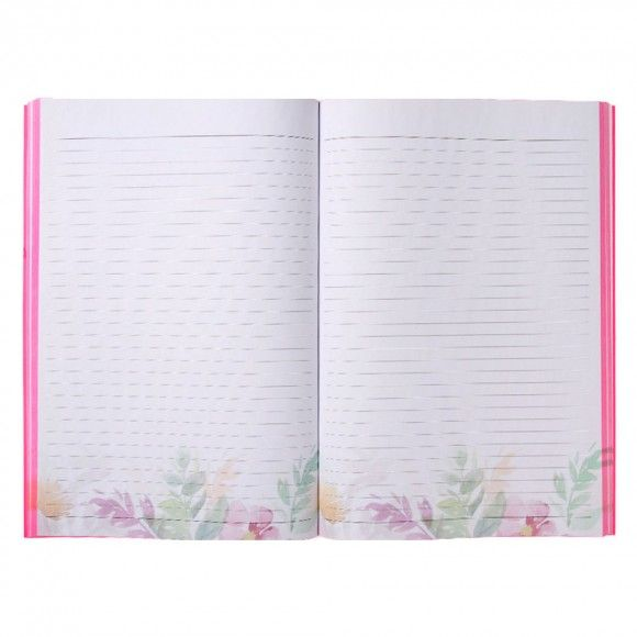Wild Blossom A4 thick exercise book