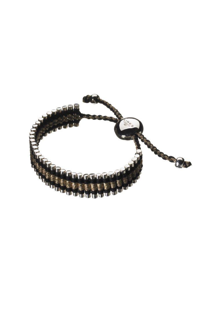 Venture mens black leather bracelet men bracelets links of london - Links Of London Bracelet
