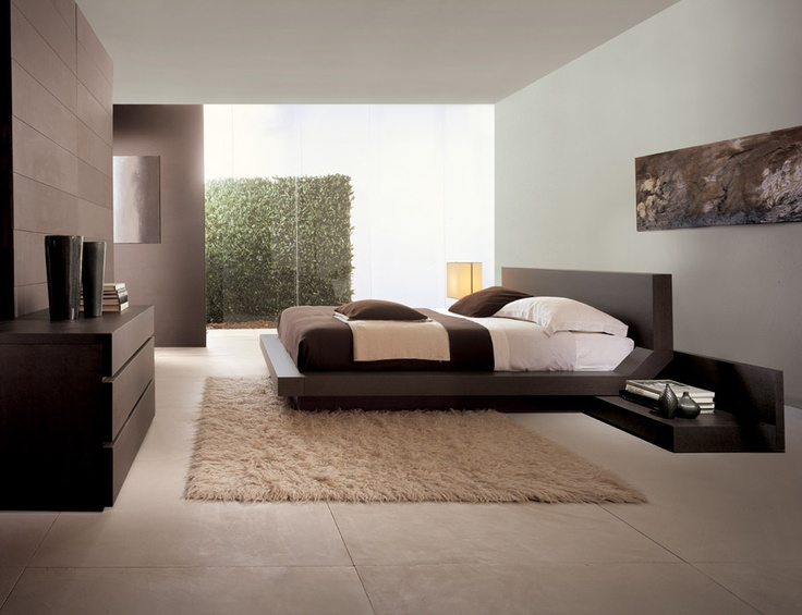 QUARANTACINQUE - Bed in grey oak finishing  Headboard and bed frame with big thickness and at 45°. http://www.fimarmobili.com