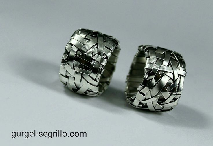 woven series wedding rings handcrafted in sterling silver - made to order by gurgel-segrillo #LoveIsLove