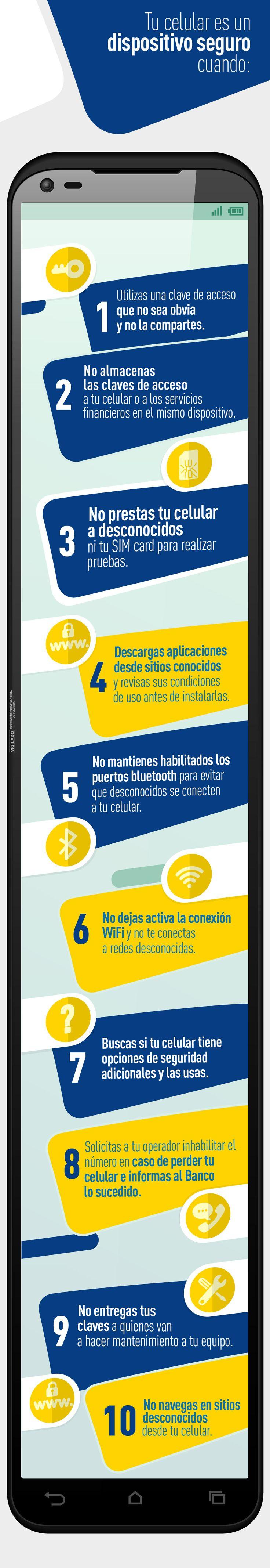 Descubre más tips de cómo hacer de tu celular un dispositivo más seguro, ingresando en  www.bancolombia.com/seguridades