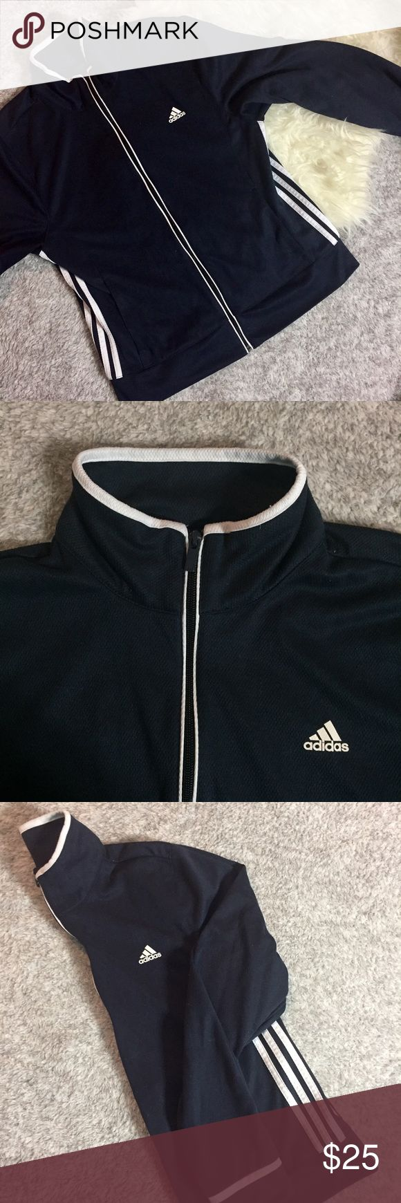 Navy Blue Adidas Zip Up Jacket Good Condition barely used • Adidas Thermo System Adidas Jackets & Coats