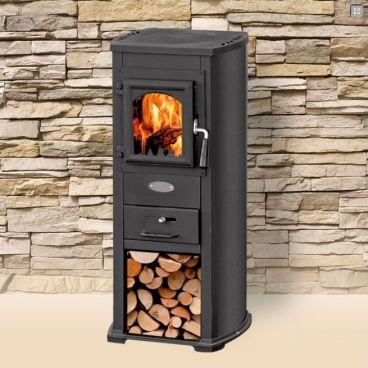 Habo houtkachel BL6.5 6,5 kW zwart voor € 369,-. Ook geschikt voor buiten onder een veranda.