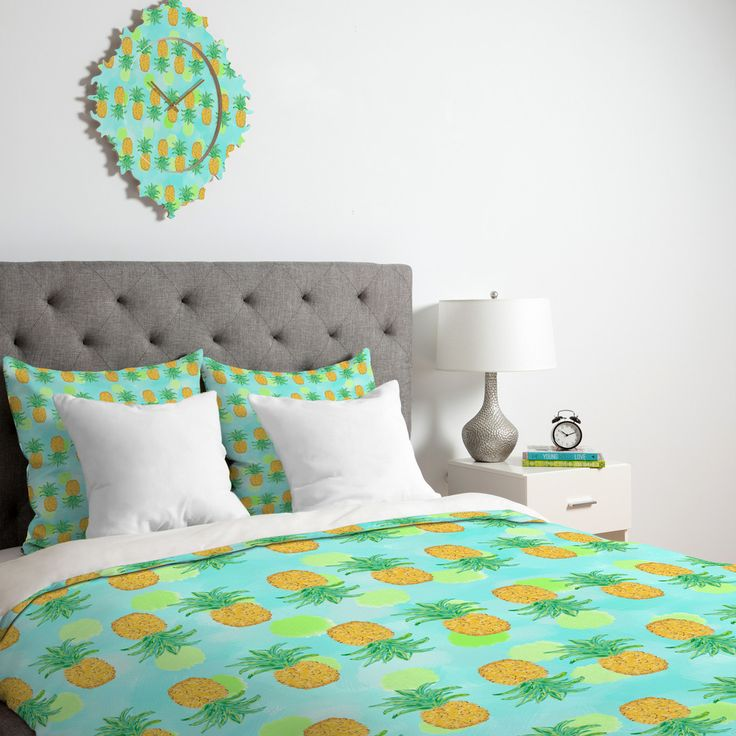 Lisa Argyropoulos Pineapples And Polka Dots Duvet Cover | DENY Designs Home Accessories