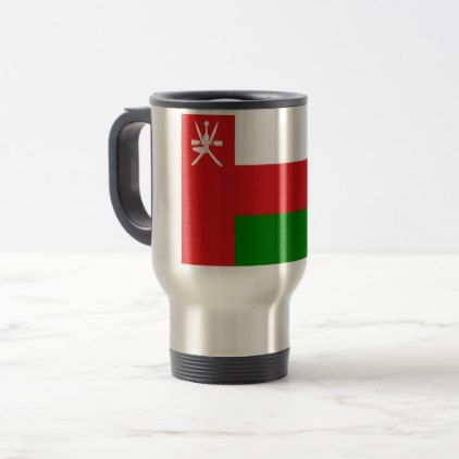 #Low Cost! Oman Flag Travel Mug - #travel #office #gifts
