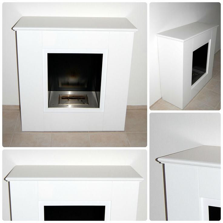 """FUSETTO"": Wooden cover sided for fireplace floor with molded top made of mdf 20 mm thick lacquered white.The article can be completely customized in sizes, starting from the existing fireplace. The article does not include in the price the fireplace bioethanol."