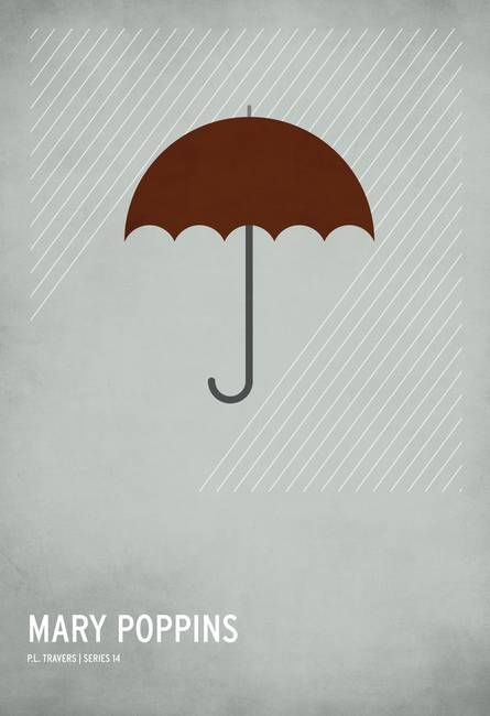 """Mary Poppins"" by Christian Jackson.  Discover more minimalist art at www.imagekind.com!"