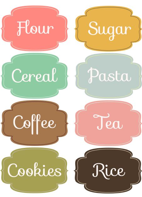 Free Downloadable & Editable labels for your pantry