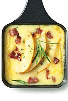Raclette mit süß-pikanten Rosmarinbirnen und Speck | raclette.de