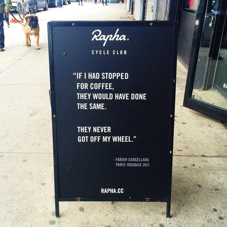 Rapha Cycle Club quote