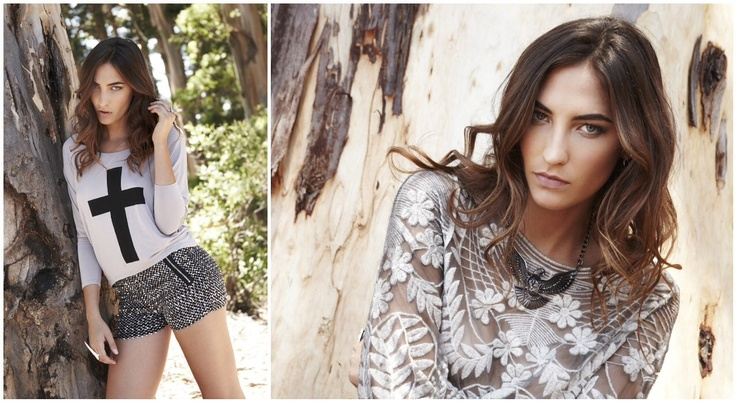 Sequin Shorts R395.00  Cross Tee R245.00    Luxe Lace Top R445.00