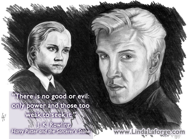 Pencil drawing of Draco from Harry Potter