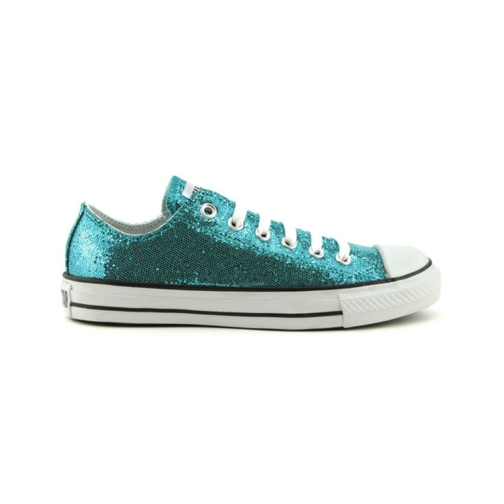 Converse All Star Lo Sparkle Athletic Shoe, Turquoise