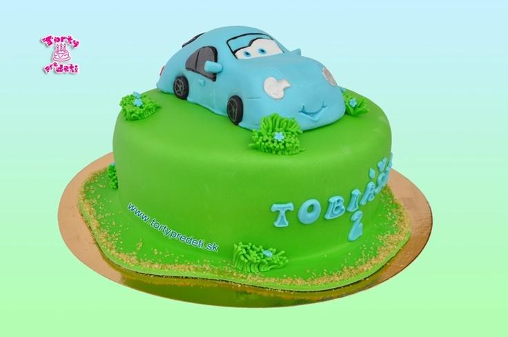 Torta Sally, z rozprávky Autá | Torty pre deti Žilina - detské, marcipánové, 3D, a iné torty na objednávku